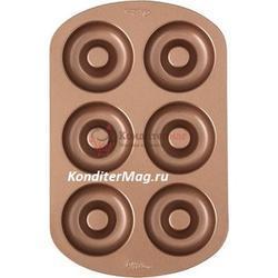 Форма для выпечки Пончик 6 ячеек Вилтон 1