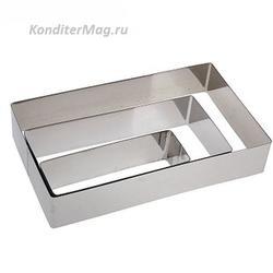 Набор для выпечки без дна Прямоугольник 25/20/15х4,5 см. 3 шт. 1