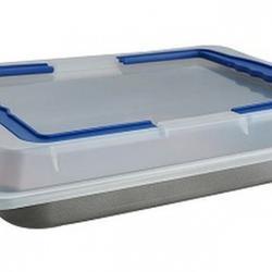 Форма для выпечки Прямоугольник 37х25х6 см. с крышкой Regent Inox Easy 1