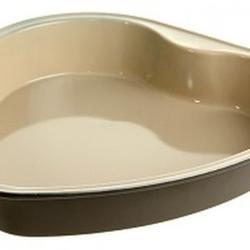 Форма для выпечки Сердце 27х26х5 см. с керамическим покрытием Ваниль 1