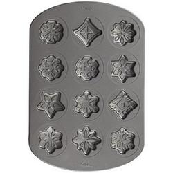 Форма для выпечки Снежинки и звезды Wilton, 12 ячеек, 1
