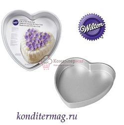 Форма для выпечки Сердце 20,3х5 см. Выбор кондитера алюминий Вилтон 1