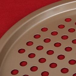 Противень перфорированный круг 27 см. металл Pomidoro 2