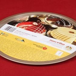 Противень перфорированный круг 27 см. металл Pomidoro 1