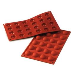 Форма силиконовая Полусфера 24 ячейки 3х1,5 см. Silikomart 1