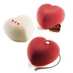 Форма силиконовая Сердца мини 8 ячеек и вырубка Silikomart 3