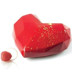 Форма силиконовая Сердце оригами и вырубка Silikomart 1