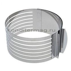 Форма раздвижная Кольцо с прорезями 25-30х9 см. 2