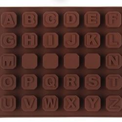 Форма силиконовая для конфет Алфавит 30 ячеек 17х14 см. 1