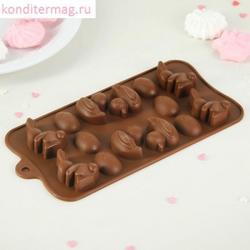 Форма силиконовая для конфет Пасхальная 14 ячеек 1