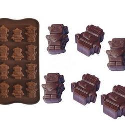 Форма силиконовая для конфет Роботы, 12 ячеек, 2