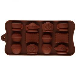 Форма силиконовая для шоколада Чаепитие 1