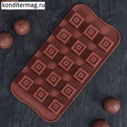 Форма для конфет Конфетка 20х10 см. силикон 1