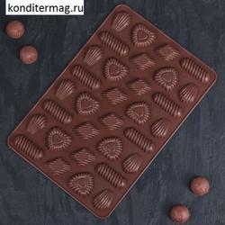 Форма для конфет Заварное печенье 28х21 см. 1