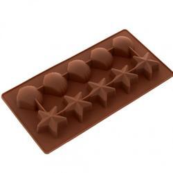 Форма силиконовая для шоколада Звёздочки и ракушки Marmiton 1