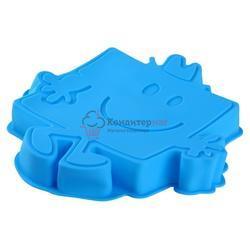 Форма силиконовая для выпечки Губка Боб 25х5 см. 1