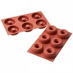 Форма силиконовая Донатс 6 ячеек 7,5х2,8 см. 1