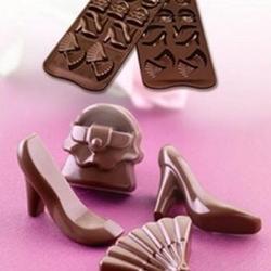 Форма для конфет Изи-шок Мода Silikomart 1
