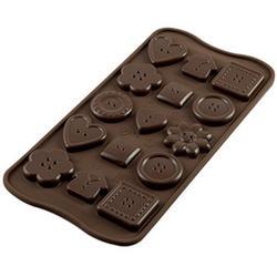 Форма для конфет Изи-шок Пуговицы Silikomart 1