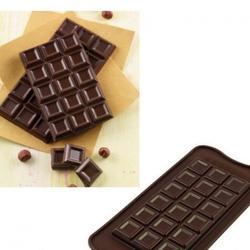 Форма для конфет Изи-шок Шоколадная плитка-2 Silikomart 1