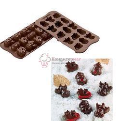 Форма для конфет Изи-шок Зима Silikomart 1