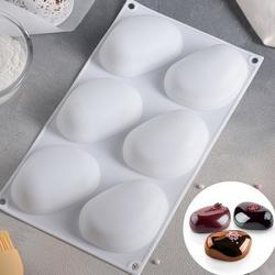 Форма силиконовая Камень живой Zen 17х29 см. 6 ячеек 1