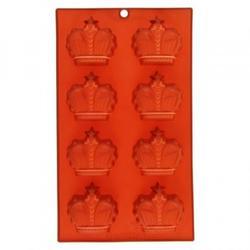 Форма силиконовая Короны 8 ячеек 28,5х17х2 см. 1