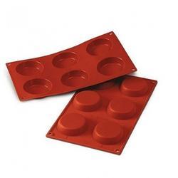 Форма силиконовая Корзиночка 6 ячеек 8х1,8 см. Silikomart 1
