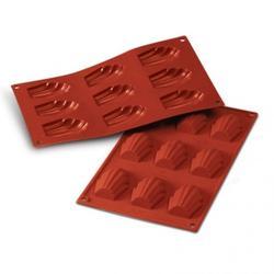 Форма силиконовая Мадлен 9 ячеек 6,8х4,5 см. Silikomart 1