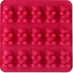 Форма силиконовая для конфет Мишки Барни 18х18 см. 15 ячеек 1