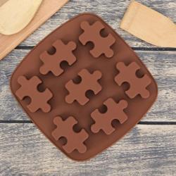Форма для шоколада Пазлы 7 ячеек 17,5х18х2 см. 1