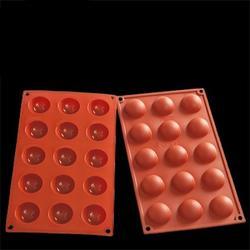 Форма силиконовая Полусфера 15 ячеек 17,5х29,5 см. 1