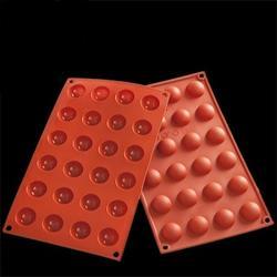 Форма силиконовая Полусфера 24 ячейки 17,5х29,5 см. 1