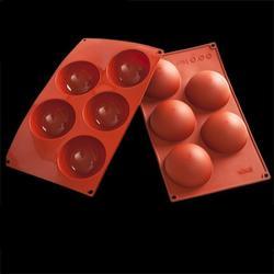 Форма силиконовая Полусфера 5 ячеек 8х4 см. 1