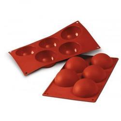 Форма для выпечки Полусфера 5 ячеек 8х4 см. Silikomart 1