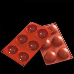 Форма силиконовая Полусфера 6 ячеек 17,5х29,5 см. 1