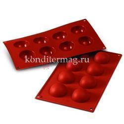 Форма силиконовая Полусфера 8 ячеек 5х2,5 см. 1