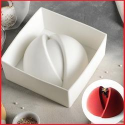 Форма силиконовая Полусфера мерси 19,2х8,7 см. 1
