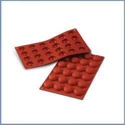 Форма силиконовая Помпон 24 ячейки Silikomart 1