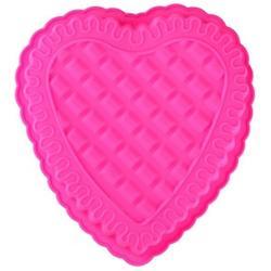 Форма силиконовая Рифленое сердце 25х24х4 см, 1