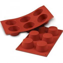 Форма силиконовая Маффин 6 ячеек 7х3,5 см. 1