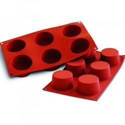 Форма силиконовая Маффин 6 ячеек 7х4 см. Silikomart 1