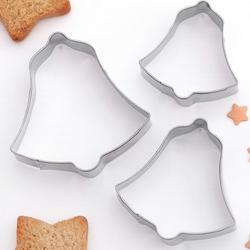 Формочка для печенья Колокольчик 6 см. 3 шт. металл 1