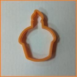 Формочка для печенья Кулич со свечой 11 см. Любимова 1