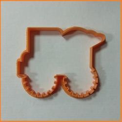 Формочка для печенья Машина бульдозер 11 см. Любимова 1