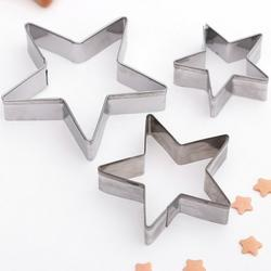 Формочка для печенья Остроконечная звезда 7х1,5 см. 3 шт. металл 1