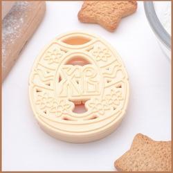 Формочка для печенья Пасхальное яйцо ХВ 8х6 см. пластик 1