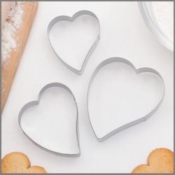 Формочка для печенья Сердце 3 шт. металл 1