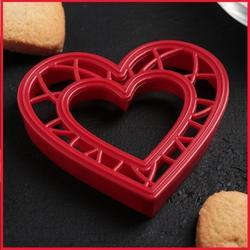 Формочка для печенья Сердце 9 см. пластик 1