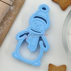 Формочка для печенья Снеговик Леденцовая фабрика 5х9,5 см. пластик 1